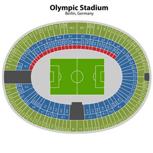 Olympiastadion Plan