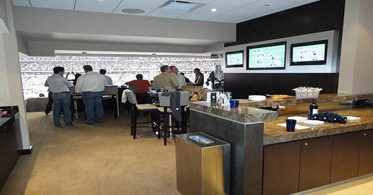 Vip access luxury corporate suite skybox tickets for Dining options at at t stadium